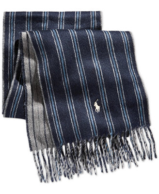 polo ralph doubleface regimental scarf hats