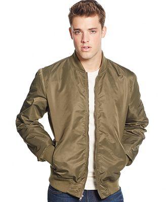 American Rag Men's Nylon Bomber Jacket, Only at Macy's - Coats ...