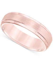Satin Comfort-Fit Band in Rose Tungsten Carbide (6mm)