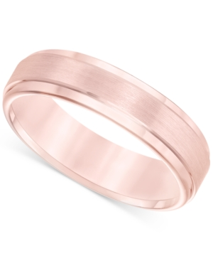 Satin Comfort-Fit Band in Rose Tungsten Carbide