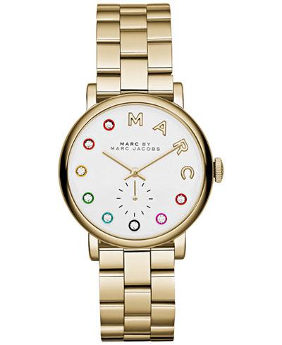 Marc by Marc Jacobs Women's Baker Dexter Gold-Tone Stainless Steel Bracelet Watch 36mm MBM3440