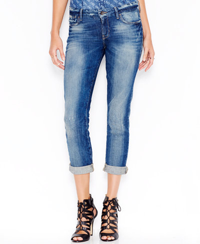 GUESS Mid-Rise Bliss Wash Pencil Skinny Jeans - Jeans - Women - Macy's