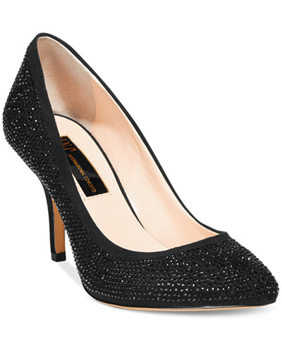 INC International Concepts Zitah Pointed Toe Rhinestone Evening Pumps, Created for Macy's