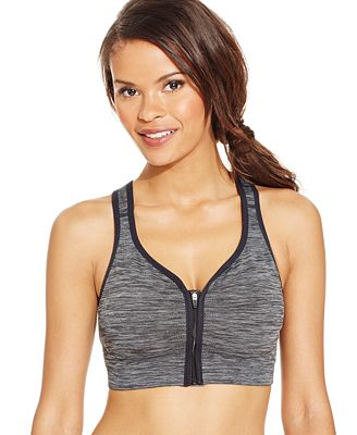 Jockey Zip-Front High Impact Seamless Sports Bra 8656