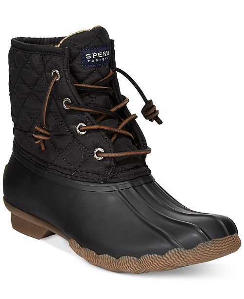 31e95f401 Sperry Women's Saltwater Quilted Duck Booties & Reviews - Boots ...