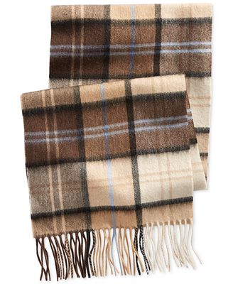 Club Room Plaid Cashmere Scarf, Only at Macy's
