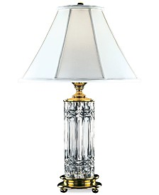 Waterford Kells Brass & Crystal Table Lamp