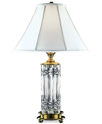 waterford kells brass & crystal table lamp - lighting & lamps - home
