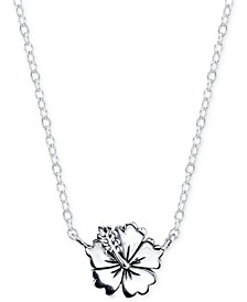 Lilo & Stitch Flower Necklace in Sterling Silver