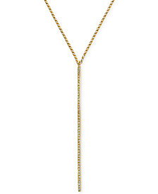 Geo by EFFY® Diamond Lariat Necklace (1/8 ct. t.w.) in 14k Gold