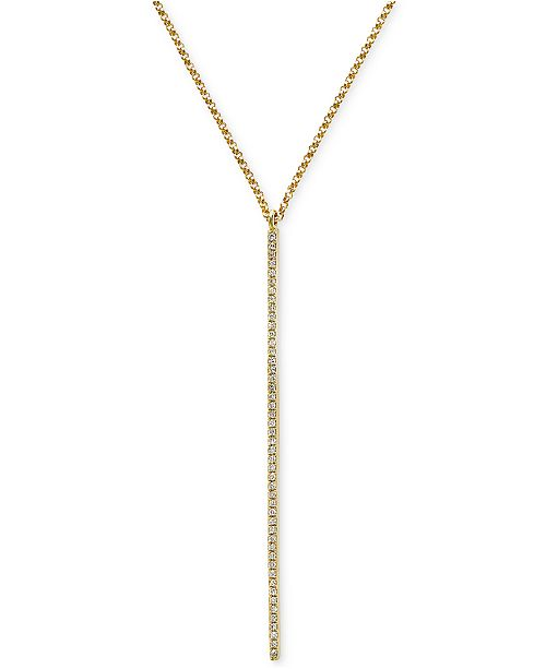 EFFY Collection Geo by EFFY® Diamond Lariat Necklace (1/8 ct. t.w.) in 14k Gold