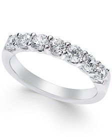 Diamond Seven-Stone Band (1 ct. t.w.) in Platinum