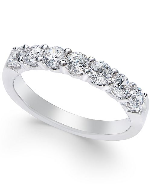 Macy's Certified Diamond Seven-Stone Band (1 ct. t.w.) in Platinum