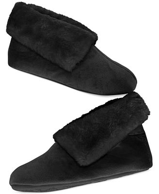 Charter Club Microvelour Bootie Slipper with Memory Foam, Created for Macy's