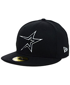 New Era Houston Astros Black and White Fashion 59FIFTY Cap