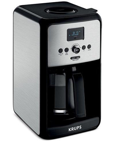 krups ec314050 savoy coffee maker coffee tea espresso kitchen macy 39 s. Black Bedroom Furniture Sets. Home Design Ideas