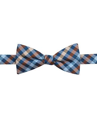 countess mara multi gingham pre bow tie ties