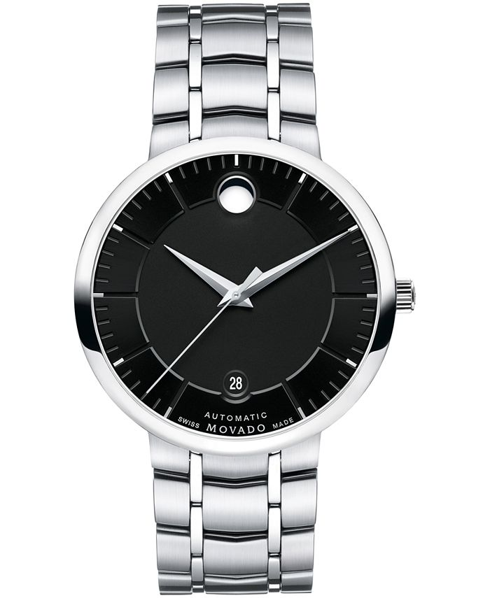 Movado - Unisex Swiss Automatic 1881 Automatic Stainless Steel Bracelet Watch 39mm
