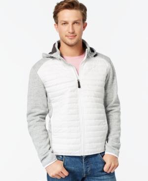Point Zero Hooded Soft-Shell Fleece Jacket