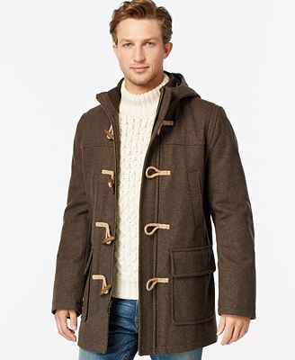 Tommy Hilfiger Wool-Blend Melton Toggle Coat - Coats & Jackets ...