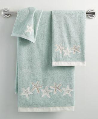 "Bath, Sequin Shells 11"" x 18"" Fingertip Towel"