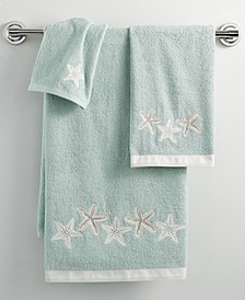 "Bath, Sequin Shells 16"" x 30"" Hand Towel"
