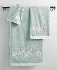 """Avanti Bath, Sequin Shells 16"""" x 30"""" Hand Towel"""