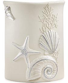 Avanti Bath, Sequin Shells Wastebasket