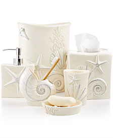 Avanti Bath, Sequin Shells Accessories Collection