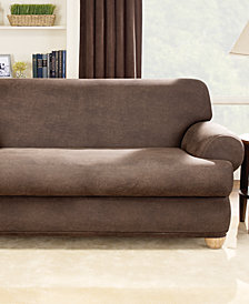 Sure Fit Stretch Faux Leather Separate Seat Sofa Slipcover