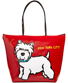 Marc Tetro NYC Westie Large Zip Tote