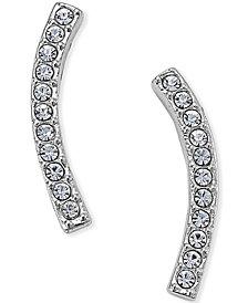Danori Silver-Tone Pavé Ear Crawler Earrings