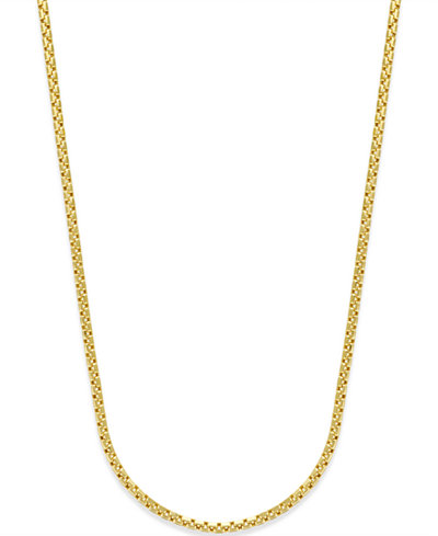Rounded Box link Chain in 14k Gold