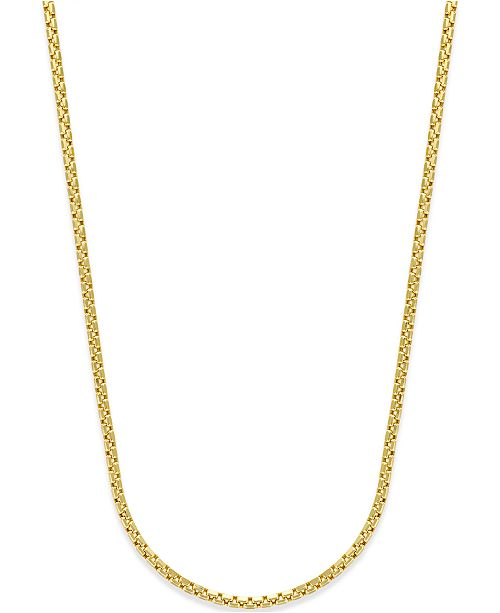 Macy's Rounded Box link Chain in 14k Gold