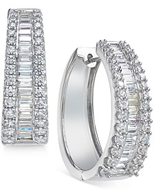 Diamond Hoop Earrings (3 ct. t.w.) in 14k White Gold