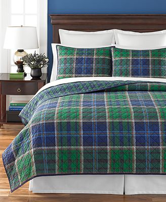 CLOSEOUT! Martha Stewart Collection Rhinebeck Plaid Quilts ... : plaid quilts - Adamdwight.com