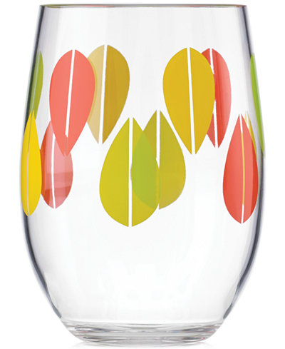 Dansk The Burbs Collection Acrylic Sunflower Stemless Wine Glass