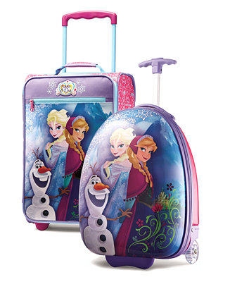 """Disney Frozen, Star Wars, Cars Luggages by American Tourister Sale: Backpack $17, 18"""" Rolling Suitcase $34 and more"""