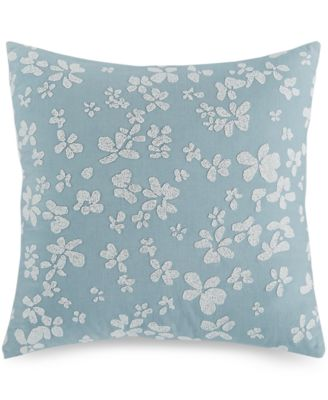"""Dotted Floral 18"""" Square Decorative Pillow"""