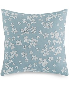 "Dotted Floral 18"" Square Decorative Pillow"