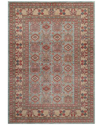 CLOSEOUT! Momeni Voyage Allover Kazak Light Blue Area Rugs