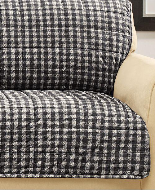 Sure Fit Velvet Deluxe Pet Armless Sofa