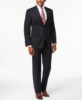 Tommy Hilfiger Navy Solid Modern-Fit Suit Separates