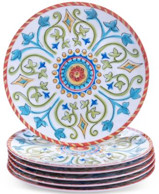 Certified International Melamine Tuscany Salad Plate  sc 1 st  Macyu0027s & Plates Dinnerware u0026 Tableware on Sale - Macyu0027s