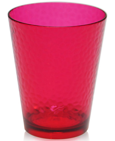 Certified International Acrylic Ruby-Tone Double Old-Fashioned Glass