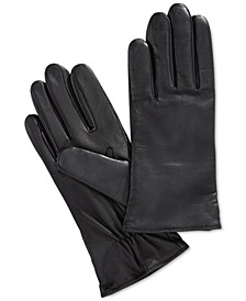 Cashmere Lined Leather Tech Gloves, Created for Macy's