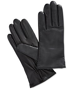 66845757a37af Charter Club Cashmere Lined Leather Tech Gloves, Created for Macy's