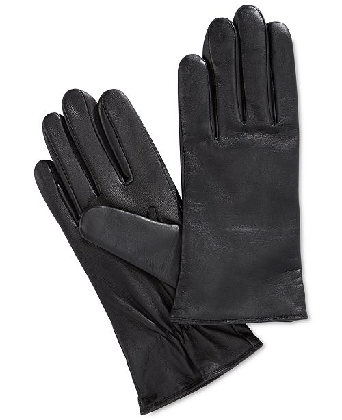04f51f100 Charter Club Cashmere Lined Leather Tech Gloves, Created for Macy's ...