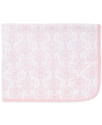 Baby Girls Damask Scroll Blanket