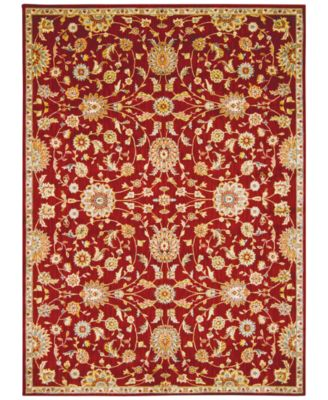 """Home Ancient Times Ancient Treasures Red 3'9"""" x 5'9"""" Area Rug"""